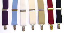 NEW Men's Tuxedo Suspenders - 1 inch wide - Metal Clamp