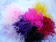 Curly Ostrich Feather Puff Hair Bow Clip Free Headband!
