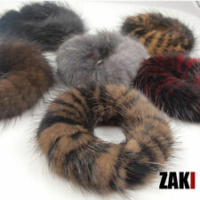 Real Genuine Mink Fur Hair Band Pony Tail  Accessories