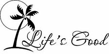Life's Good Palm Tree Vinyl Home Wall Decal Decor