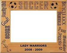 Personalized laser Engraved Wood Soccer Picture Frame