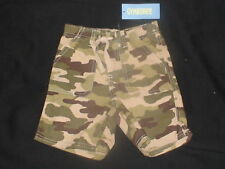 NWT GYMBOREE ALL STAR SLUGGER CAMO SHORTS 12 18 2T 3T