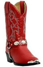 Laredo Little Concho Girls Kids Western Cowboy Boots Red LC2213
