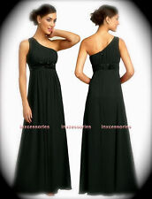 Bridesmaid FORMAL Evening PROM Gown DRESS DRESSES BLACK