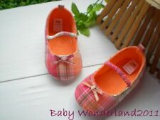 New Mothercare Girls Cute Checked Bow Baby Shoes