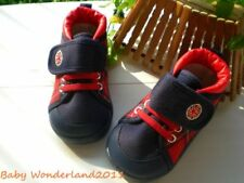 New Boys Navy&Red Checked Velcro Strap Baby Shoes