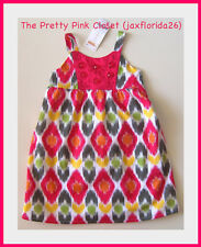 Gymboree Batik Summer Gem Button Print Dress Toddler Sizes