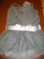 NWT Zack & Zoe gingham Tulle rhinestone dog dress XS L Gorgeous for your pup