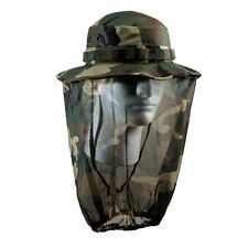 BOONIE HAT WOODLAND with CAMO MOSQUITO NETTING Small-XL