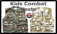 Kids Childrens DPM CAMOU Scouts ARMY ACTION VEST GILET