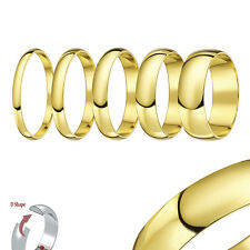 9ct Yellow Gold Xtra Heavy D Shaped Wedding Ring Band
