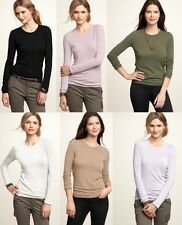 GAP WOMENS RAYON CREWNECK SWEATER Lightweight  Knit  S,M,L,XL,2XL  NEW NWT