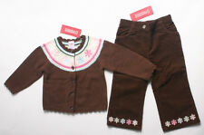 NWT Gymboree Winter Ballerina girls size 18 24 months 2T brown sweater pants