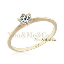 18k Rose Gold EP 0.25ct Brilliant Cut Crystal Anniversary Band Ring