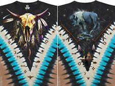 NEW Nature Bison Skull Native American West Indian Tie Dye T Shirt M L XL 2X