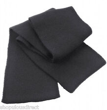 Double Knit Warm Winter Scarf Mens Ladies Unisex Smart Long Knitted Soft Thick