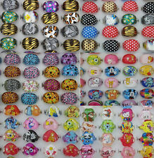 Wholesale Mixed Lots 100pcs resin Pretty Lovely child rings