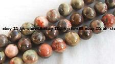 Dragon Jasper round Beads 15.5'' 8mm 10mm 12mm 14mm
