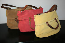 *BRAND NEW* Lucky Bandit Suede Foldover Hobo (Coral, Yellow, Brown) $169