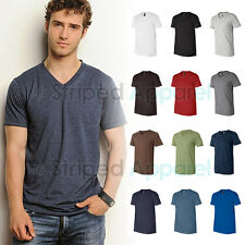 Canvas Mens Short Sleeve V-Neck T-Shirt Delancey Tee XS-2XL Men's 3005