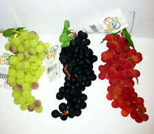 Bunch of Fake Rubber Fruit Grapes Shaped   Decoration Ornament