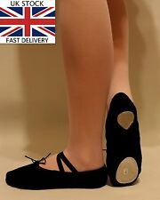 Ballet Shoes Slippers Black Canvas Adults Womens Mens Dance Gymnastics Shoes New