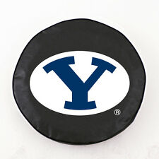 Brigham Young Cougars Black Vinyl Spare Tire Cover