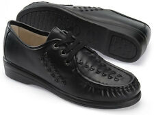 Softspots BONNIE LITE 114801 Womens Black Leather Comfort Hand Sewn Moccasin
