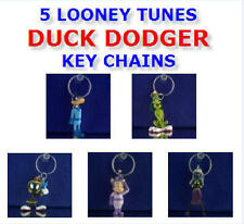 5 NEW LOONEY TUNES DUCK DODGERS KEY CHAIN RING BACKPACK ZIPPER PULLS YOU PICK!