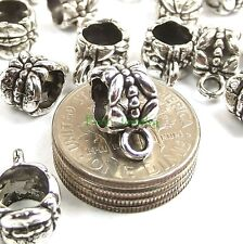 Leaf Bail Bead Large Hole Charm Carrier and Jump Ring Pack fit European Bracelet