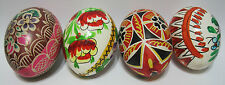 MINT Vintage Floral Decorated Hand Blown Hand Painted Real Chicken Easter Egg