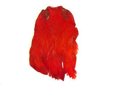 Hen Capes Dyed for fly tying - red, orange, yellow, black, pink, purple and more