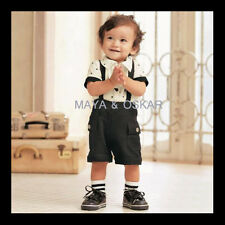 Baby Toddler 2-piece Outfit Top T-Shirt Short Dungarees Trousers Formal Party