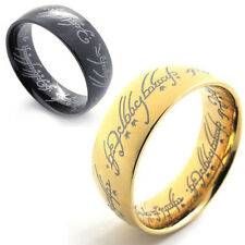 LORD OF THE RINGS LOTR UNISEX MENS WOMENS STAINLESS STEEL THE ONE RING US520689