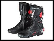 NEW PRO-BIKER Motorcycle Sport Racing Boots Riding Boots Black EUR Size 40-45