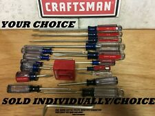NEW CRAFTSMAN TORX,PHILLIPS OR SLOTTED SCREWDRIVER - CHOOSE YOUR SIZE USA MADE