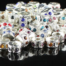 WHOLESALE CRYSTAL SILVER FINDINGS STOPPER LOCKS/CLIP EUROPEAN CHARM BEADS LOTS