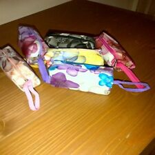 Patterned Zipped upper Tarp Pouch/purse with & wrist strap In Assorted colours