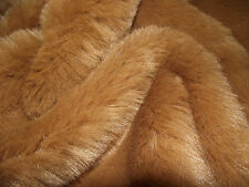 LUXURY Faux Fur Fabric Material CHIPMUNK GINGER BROWN