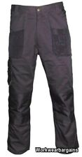 Baratec Mens Work Wear Cargo Combat Trousers Pants Black + FREE KNEE PADS