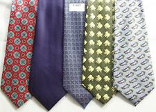 MENS NEW TIES HAND MADE 100% POL .PRICE FOR   5 TIES -T 053