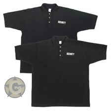 Polo Shirt SECURITY Black 100% Cotton  Event Security Golf Shirt New