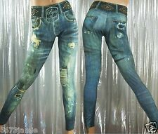 Paris Angel Women's Leggings Very Sexy Spandex Studs Embellished Denim Inspired