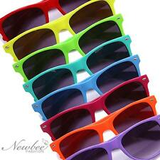 Colorful Horn Rimmed Style Vintage Sunglasses Bright Neon Hipster Fixie Shades