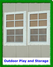 SHED WINDOWS PLAYHOUSE BARN STORAGE BUILDING BUILD SMALL GLASS (2) 14X21 WHITE