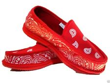 RED BANDANA HOUSE SHOES SLIPPERS TROOPER BRAND NEW SIZE 9 10 11 12 13 PIRU BLOOD