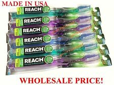 3 / 6/ 12 Pcs NEW REACH CRYSTAL CLEAN TOOTHBRUSHES SOFT MEDIUM FIRM FULL HEAD