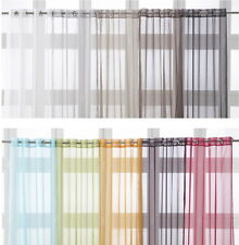 """Eyelet Ring Top Voile Net Curtain Panel Extra Long 135 x 240cm 53"""" x 94"""""""