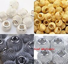 20pcs Silver/Golden/Black Basketball Wives Earrings 12mm Charm Loose Mesh Beads