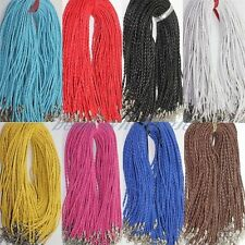 10/100pcs Man-made Leather Braid Rope Hemp 3mm Cords Fit Necklace Choose Color